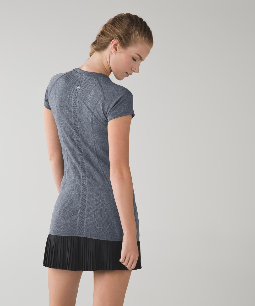 Lululemon Swiftly Tech Short Sleeve - Heathered Black