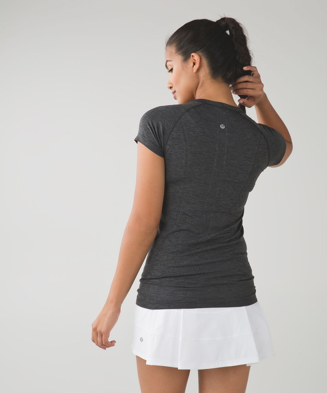 Lululemon Swiftly Tech Short Sleeve Crew - Heathered Dark Slate