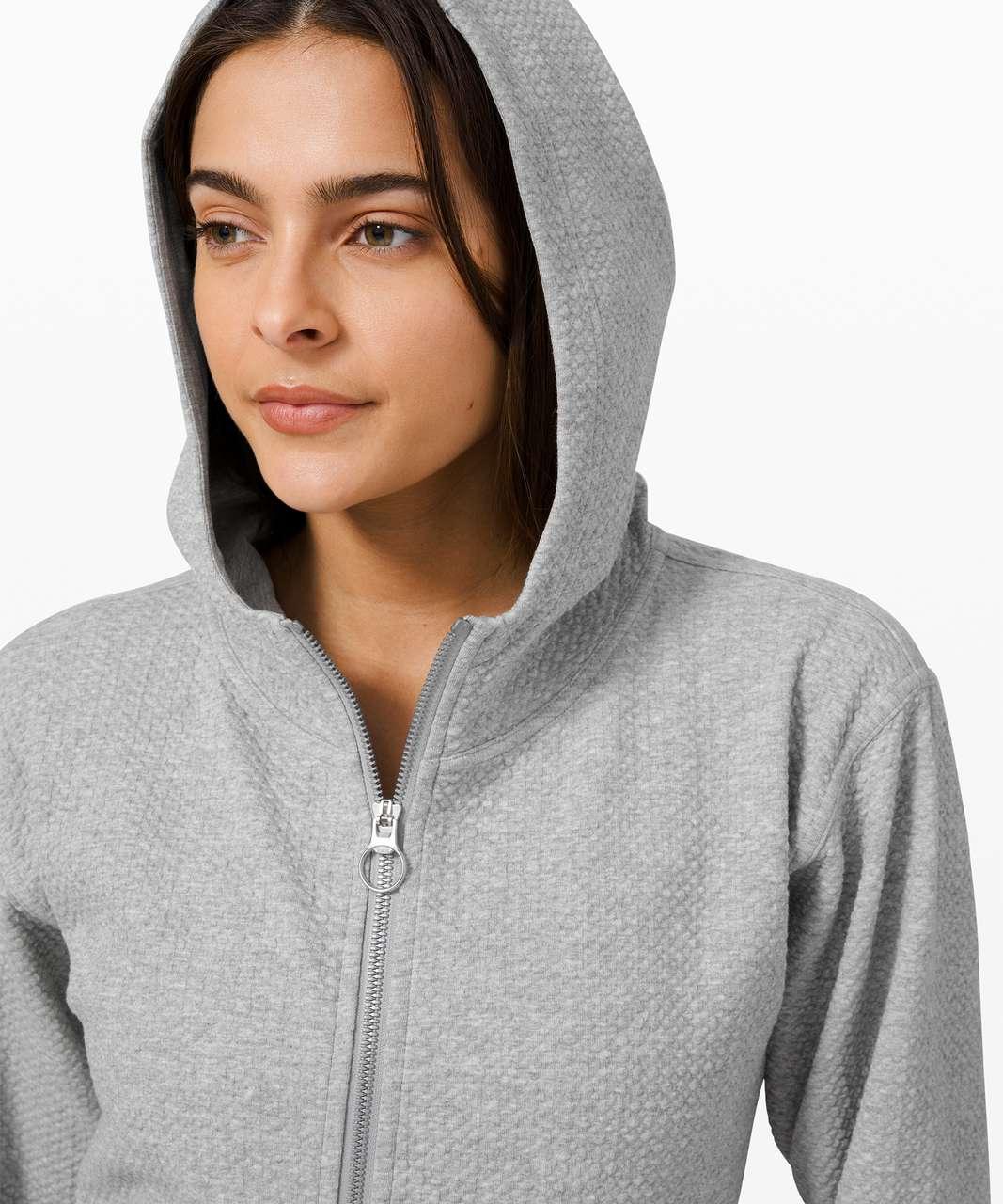 Lululemon All Yours Zip Hoodie *Bubble Dot - Heathered Core Light Grey / White
