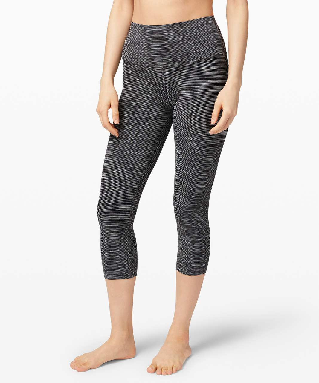 """Lululemon Align Crop *21"""" - Wee Are From Space Dark Carbon Ice Grey"""