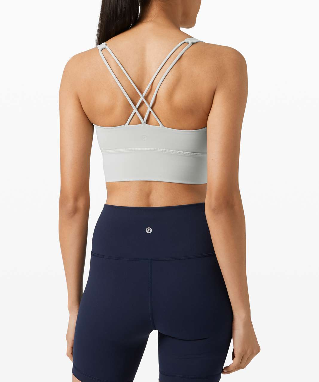 Lululemon Free To Be Bra Long Line *Light Support, A/B Cup (Online Only) - Silver Drop