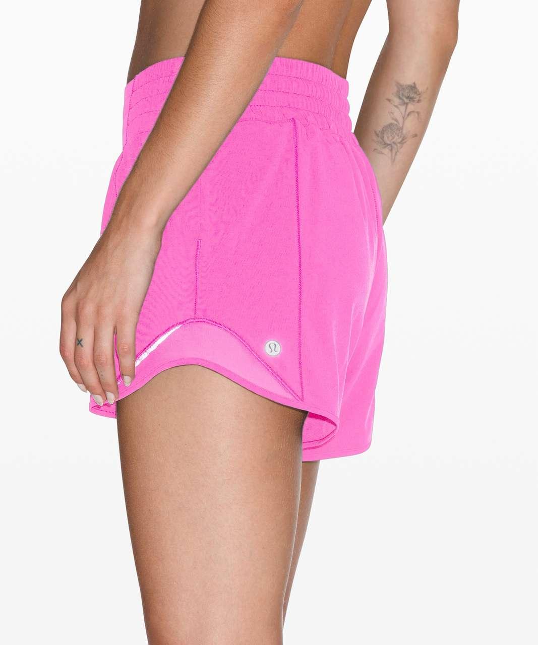 "Lululemon Hotty Hot Short *High-Rise Long 4"" - Dark Prism Pink"