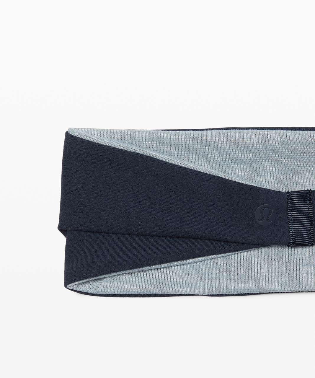 Lululemon Fringe Fighter Headband - True Navy / Heathered Blue Cast