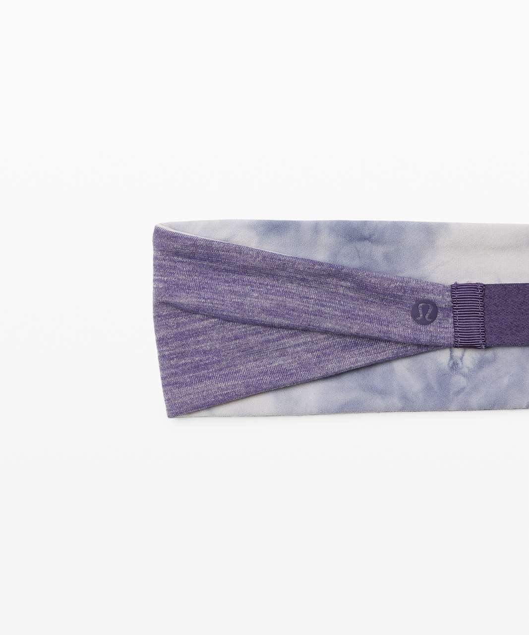 Lululemon Fringe Fighter Headband - Diamond Dye Iced Iris Peri Purple / Heathered Midnight Orchid