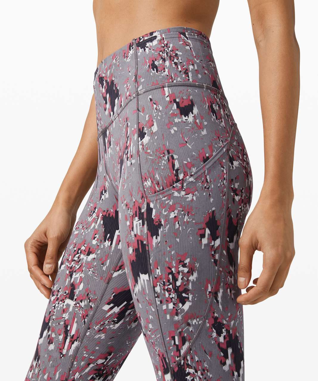 "Lululemon Fast and Free High Rise Tight 25"" - Floral Flux Multi"