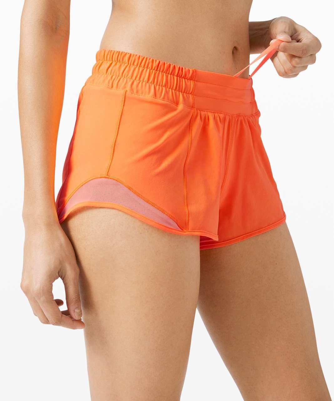 """Lululemon Hotty Hot Short II *2.5"""" - Highlight Orange"""