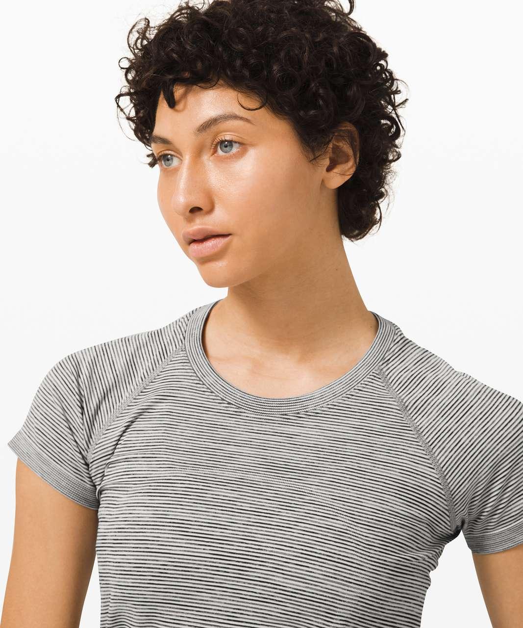 Lululemon Swiftly Tech Short Sleeve 2.0 - White / White / Black