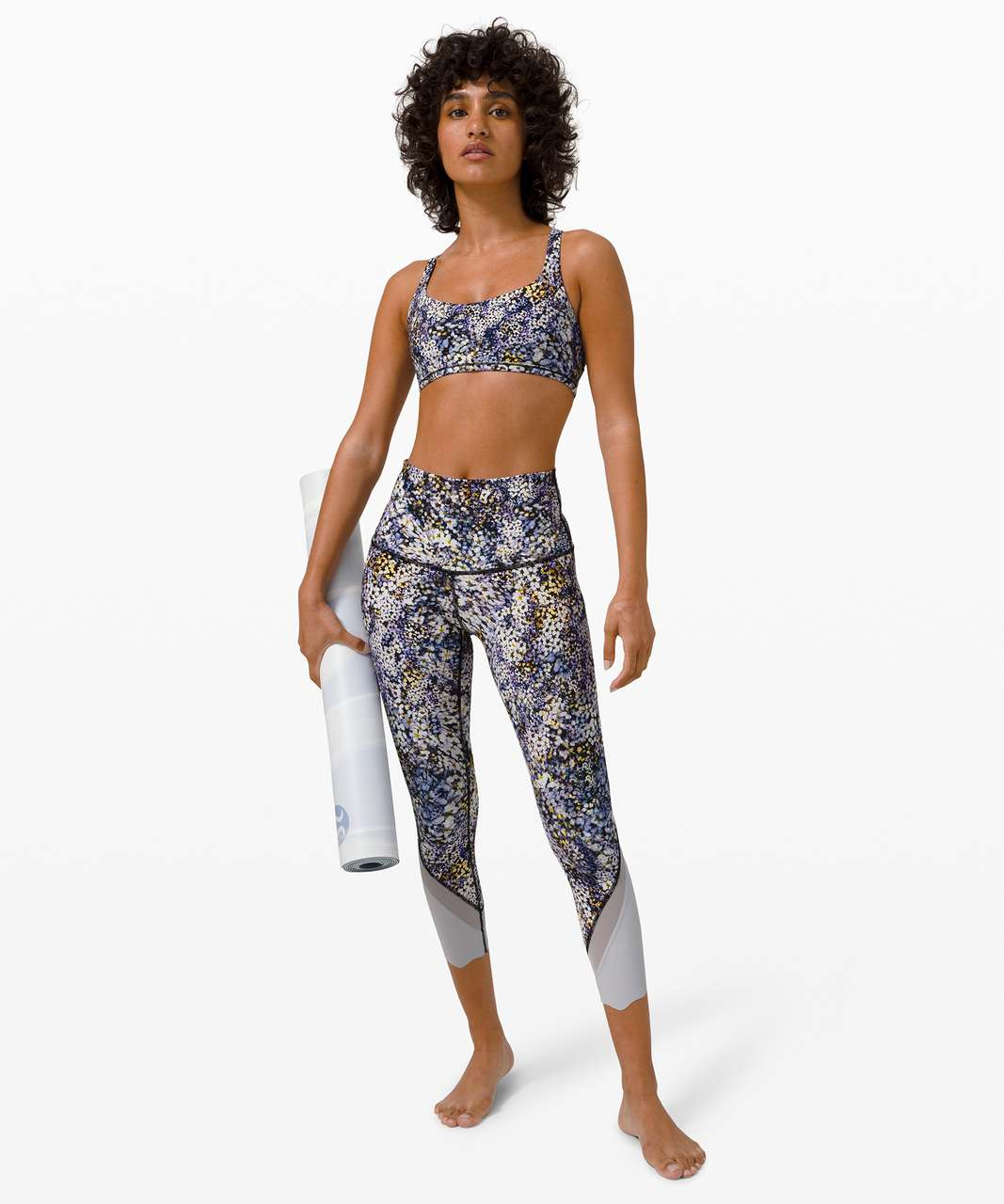 Lululemon Free To Be Bra Wild *Light Support, A/B Cup - Floral Metropolis Multi