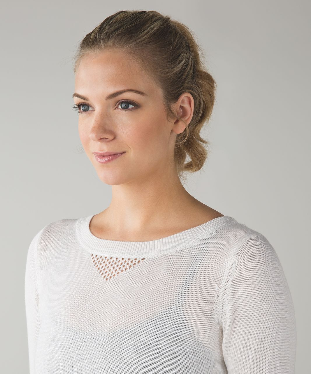 Lululemon Sunset Savasana Pullover II - Heathered White