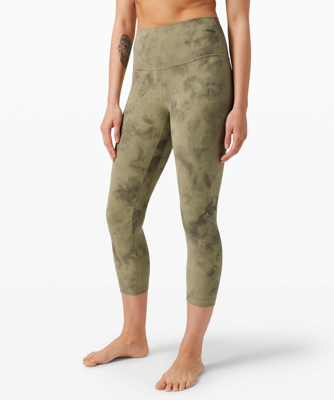 """Lululemon Align Crop 21"""" *Diamond Dye - Diamond Dye Vista Green Medium Olive"""