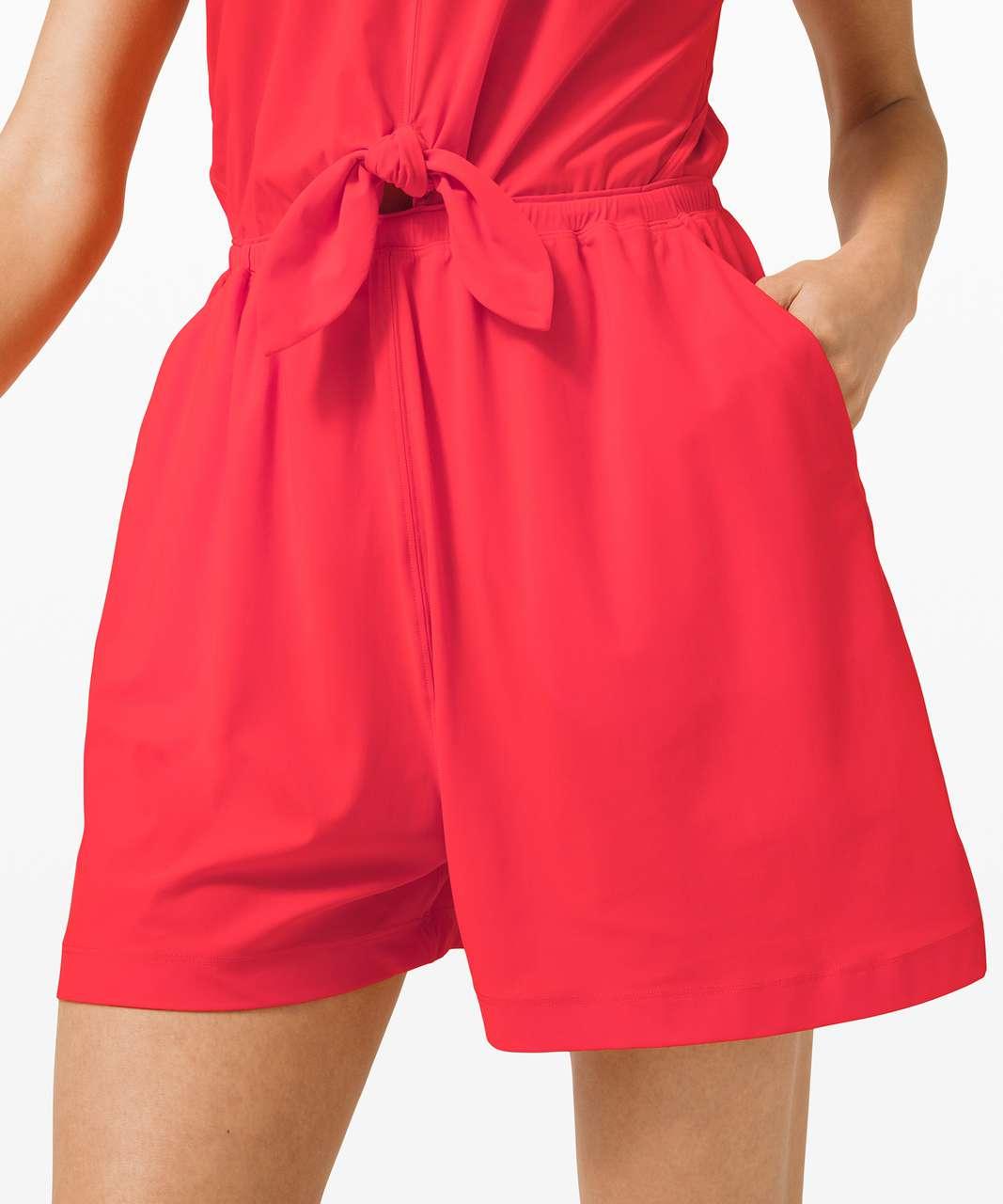 Lululemon Handle the Heat Romper - Carnation Red