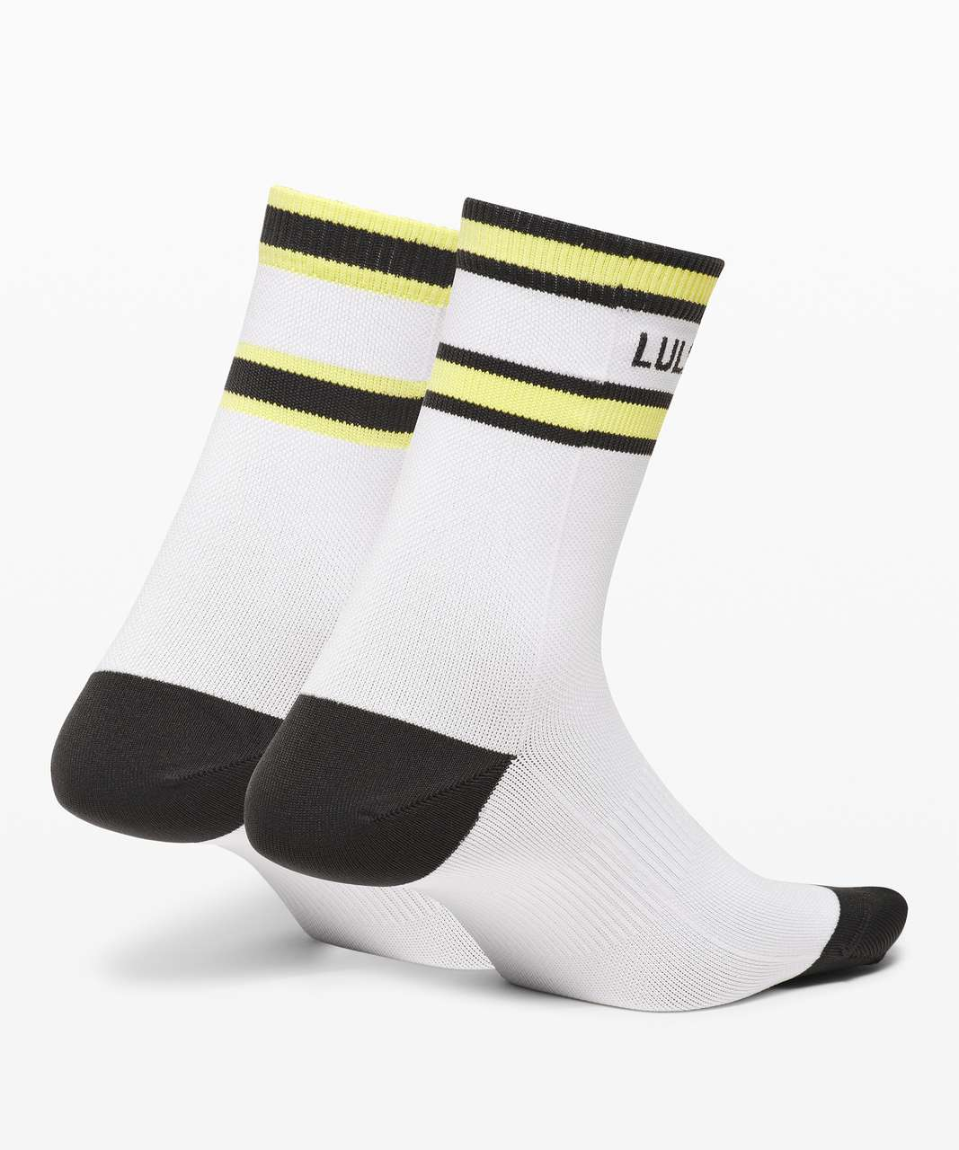 Lululemon Tale To Tell Quarter Sock *2 Pack - White / Graphite Grey / Lemon Vibe