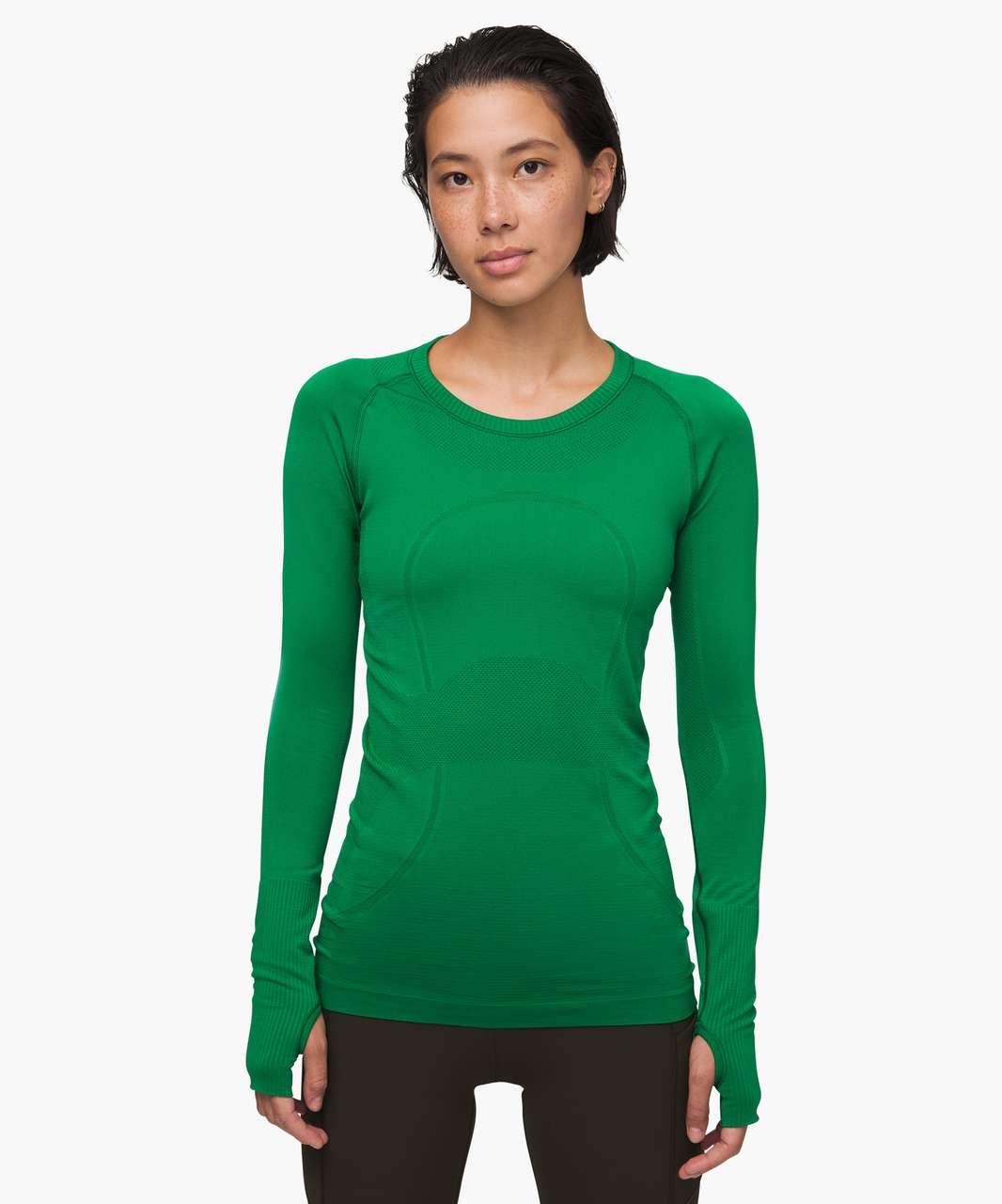 Lululemon Swiftly Tech Long Sleeve Crew - Classic Green / Classic Green