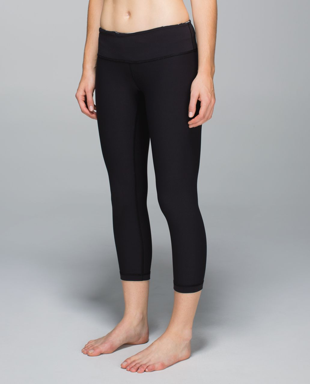 Lululemon Wunder Under Crop - Black / Wi14 Quilt 3