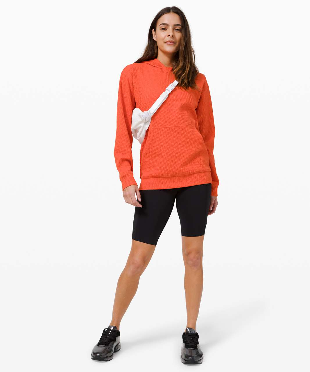 Lululemon All Yours Hoodie *Bubble Dot - Heathered Brick / White