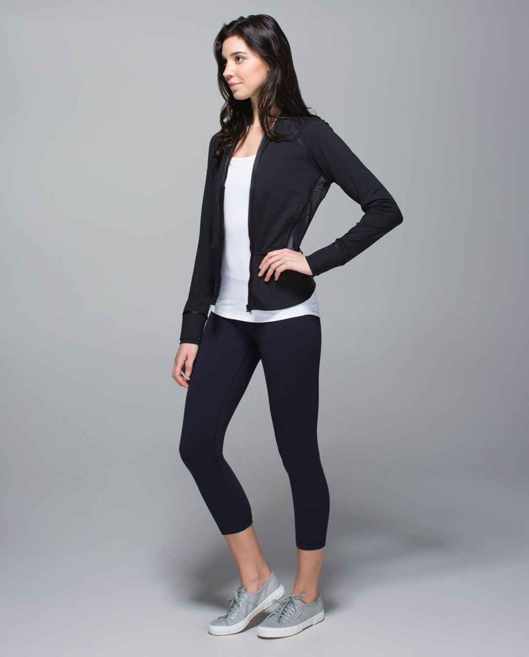 Lululemon Wunder Under Crop II - Naval Blue