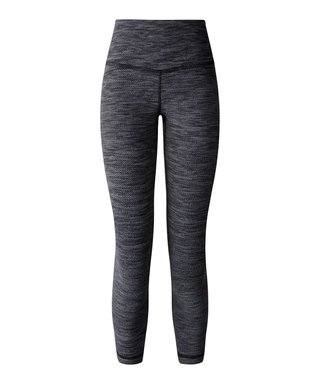 Lululemon Wunder Under Crop II - Diamond Jacquard Space Dye Black Slate