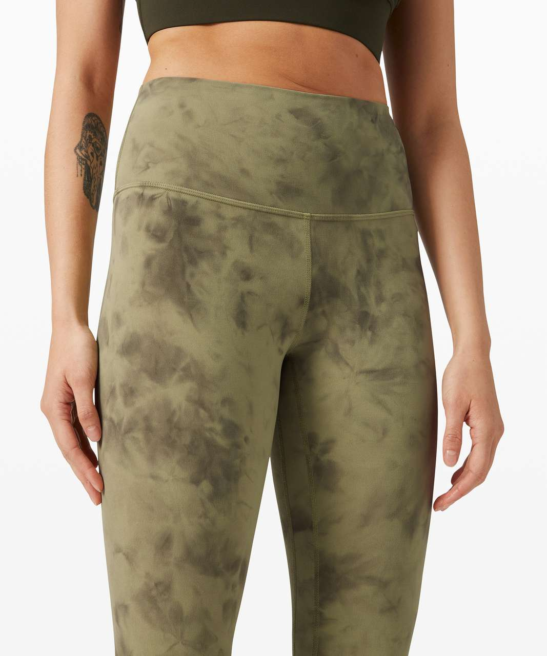 "Lululemon Align Pant 25"" *Diamond Dye - Diamond Dye Vista Green Medium Olive"