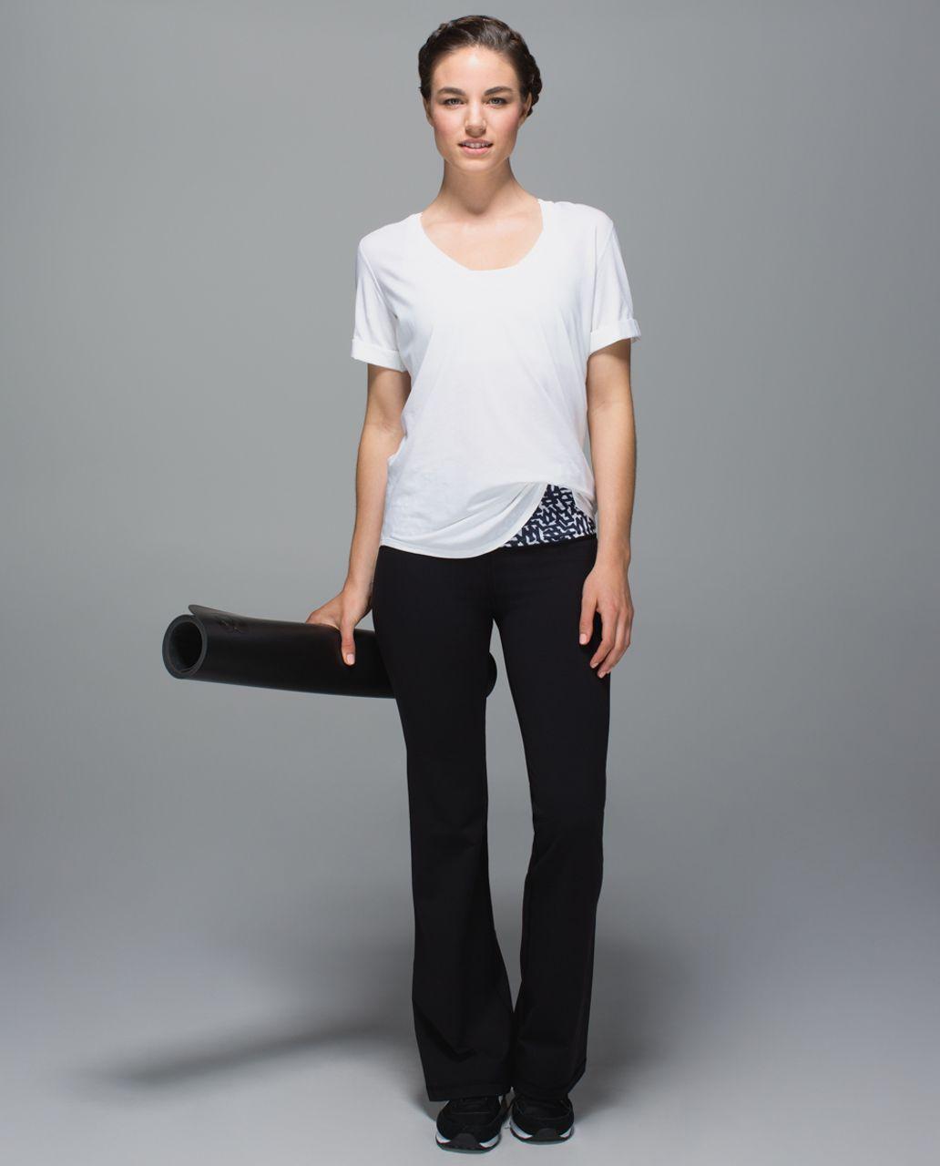 Lululemon Groove Pant II - Black / Net Pop White Black