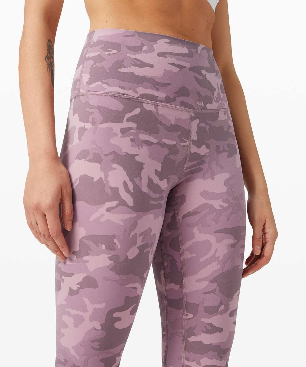 """Lululemon Align Crop *21"""" - Incognito Camo Pink Taupe Multi"""