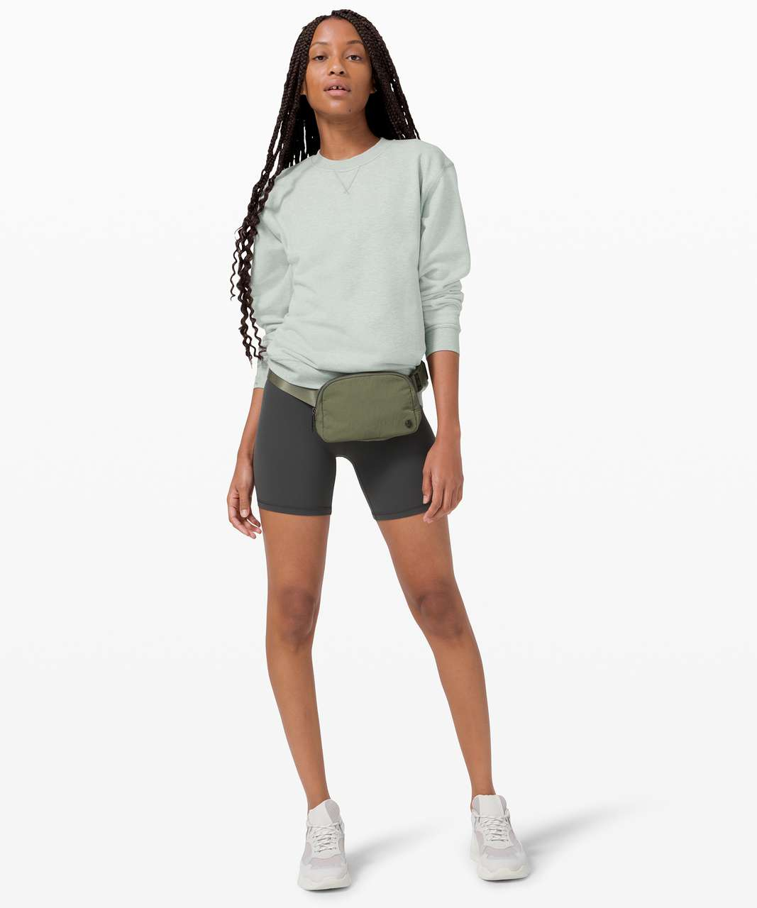 Lululemon All Yours Crew *Terry - Heathered Island Mist