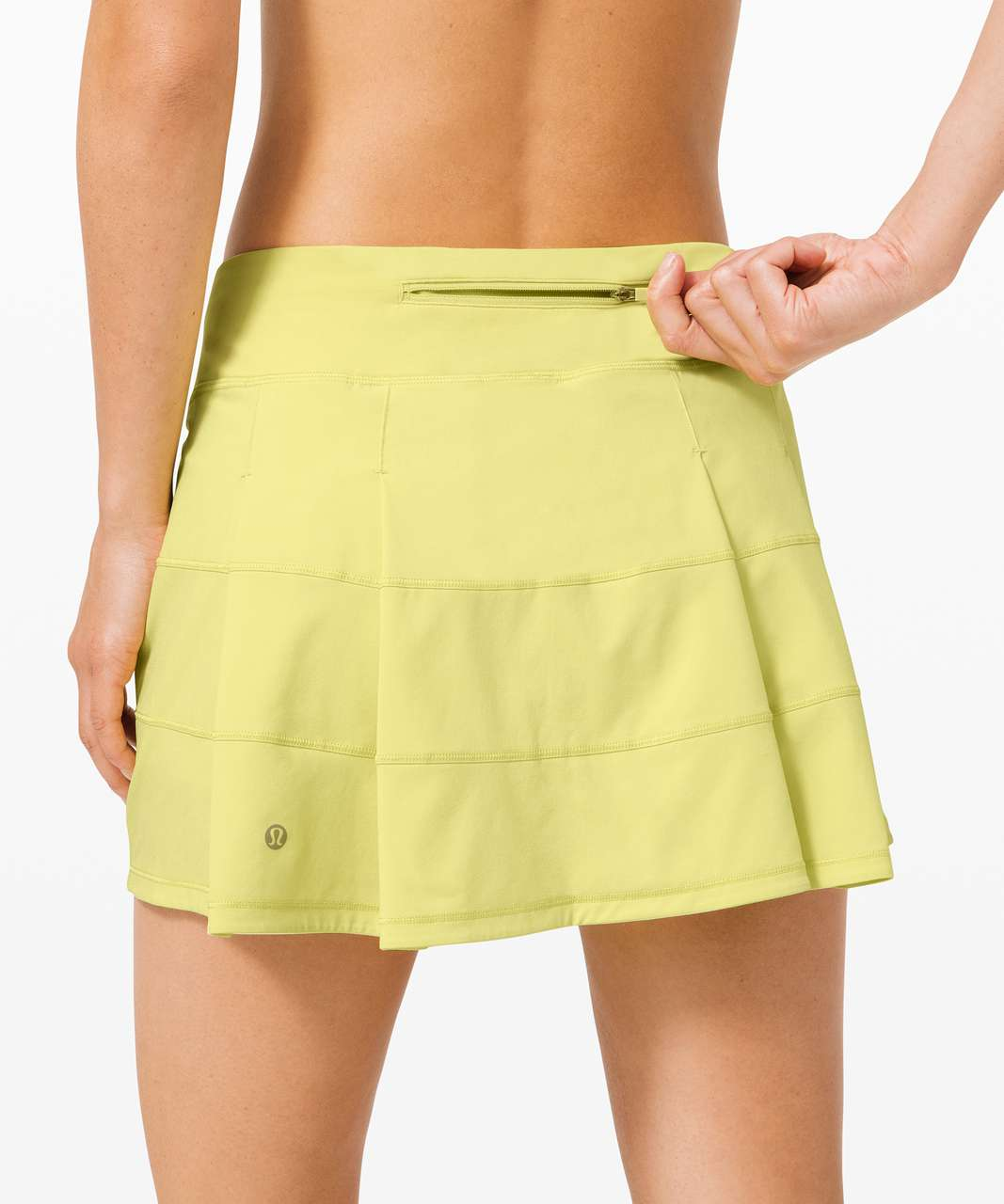 "Lululemon Pace Rival Skirt (Tall) *4-way Stretch 15"" - Lemon Vibe"