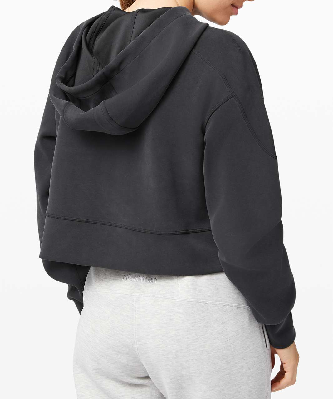 Lululemon Get Centred Crop Hoodie - Black / Black