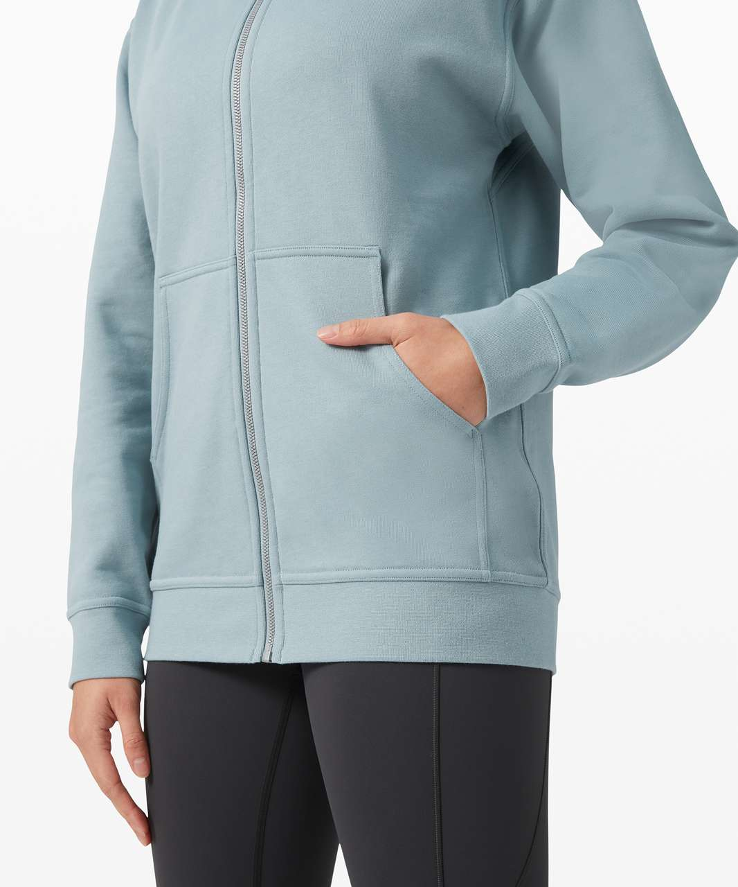 Lululemon All Yours Zip Hoodie *Terry - Blue Cast