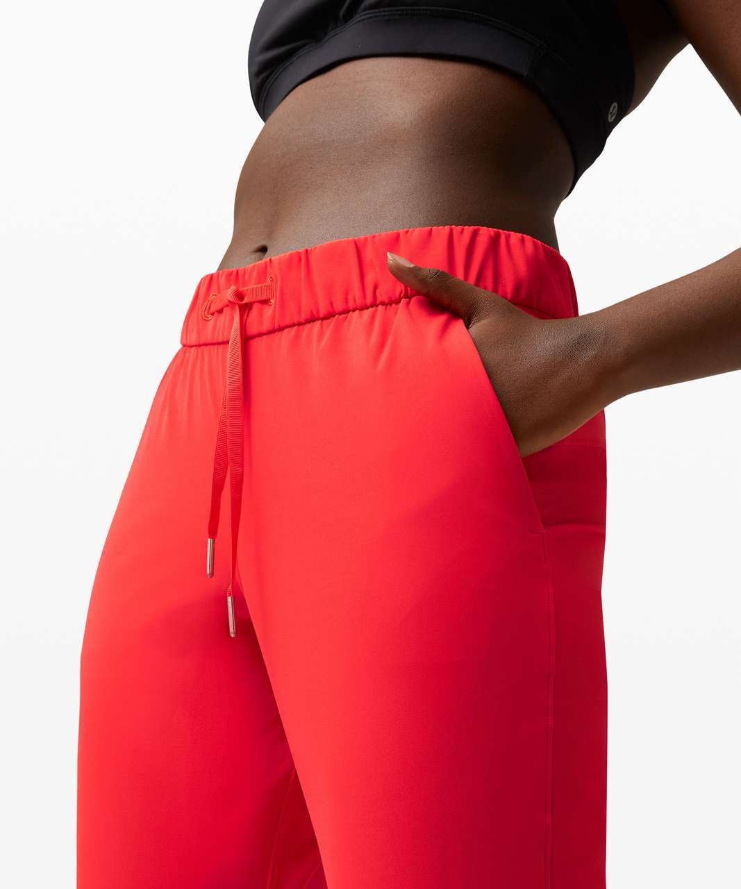 """Lululemon On the Fly Crop *23"""" - Carnation Red"""