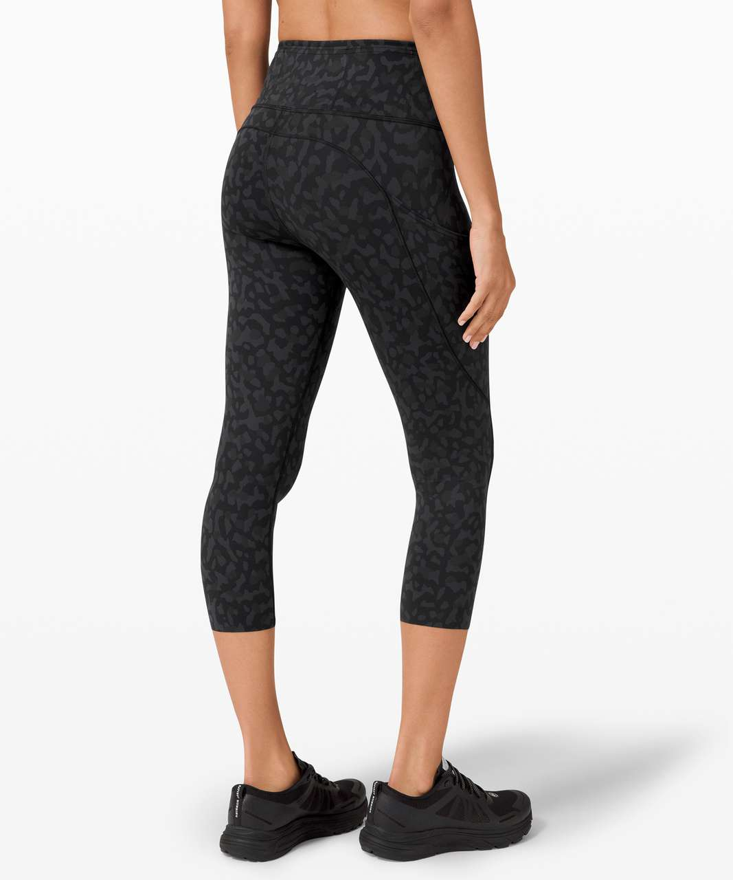 """Lululemon Fast and Free Crop II 19"""" *Non-Reflective - Formation Camo Deep Coal Multi"""