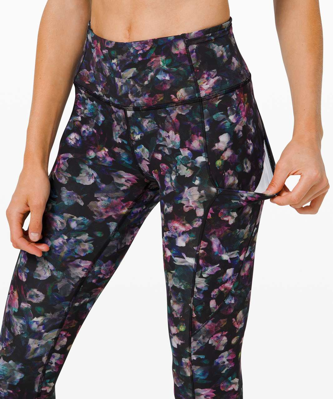 """Lululemon Fast and Free Tight II 25"""" *Non-Reflective Nulux - Activate Floral Multi"""
