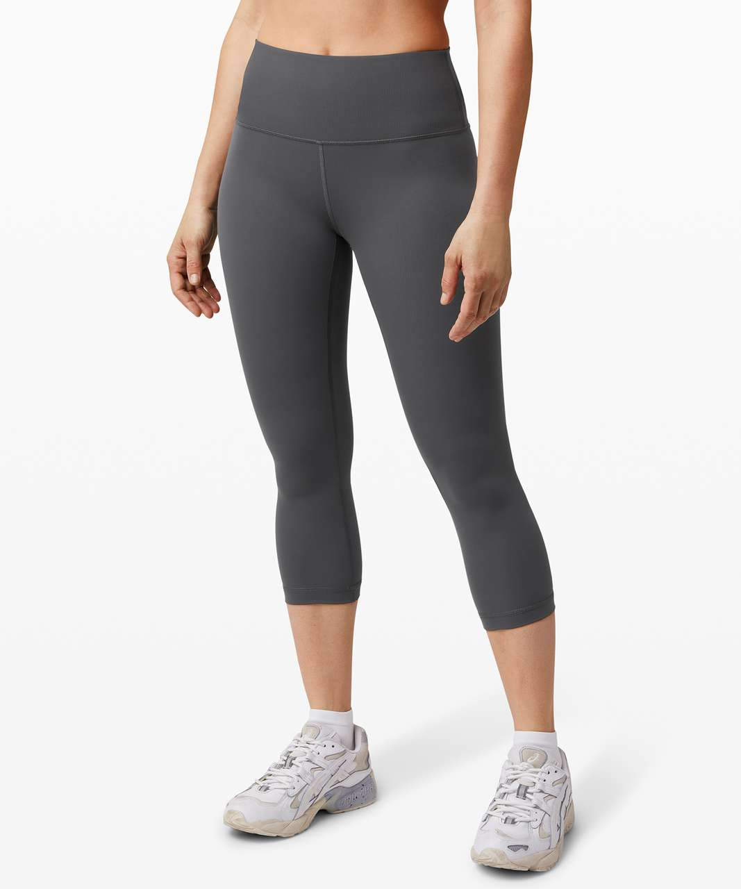 "Lululemon Wunder Under Crop (High-Rise) *Full-On Luxtreme 21"" - Graphite Grey"
