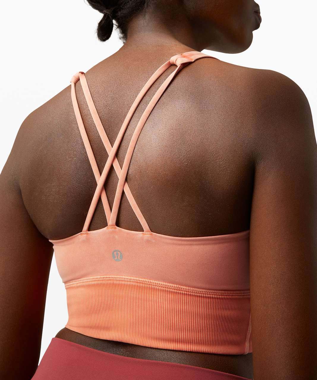 Lululemon Free To Be Bra Long Line *Rib - Snow Wash Washed Rustic Coral