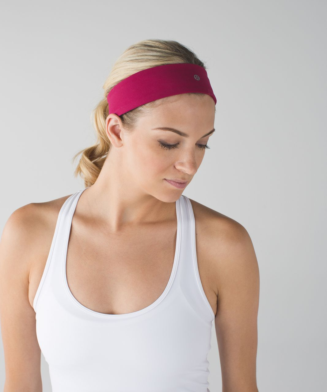 Lululemon Fly Away Tamer Headband II - Berry Rumble