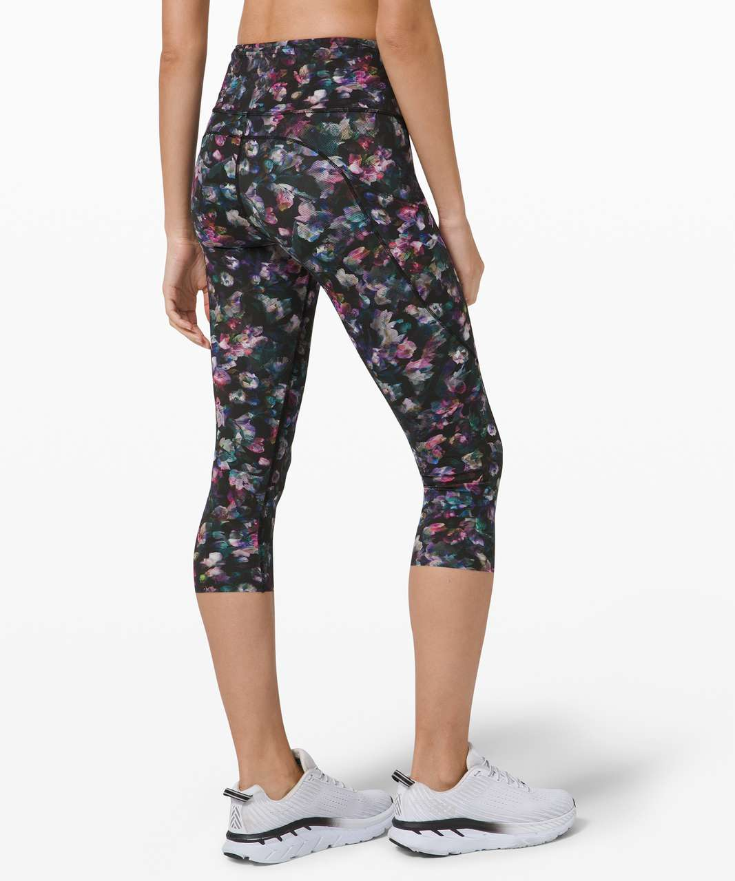 """Lululemon Fast and Free Crop II 19"""" *Non-Reflective - Activate Floral Multi"""