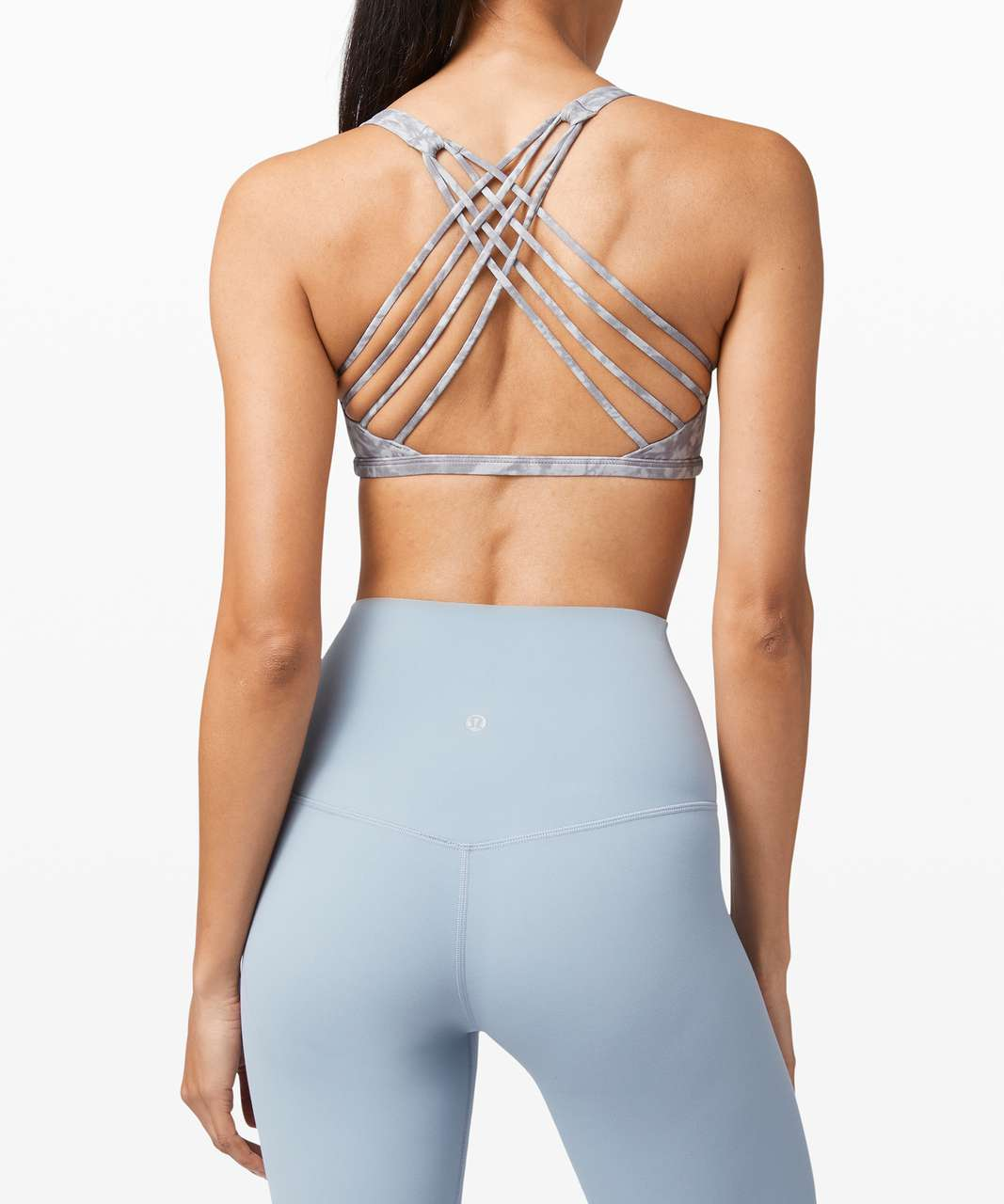 Lululemon Free To Be Bra Wild *Light Support, A/B Cup - Summer Shade Ice Grey Multi