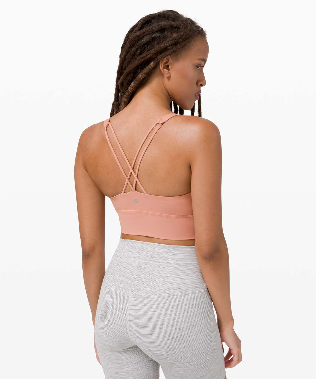 Lululemon Free To Be Bra Long Line *Light Support, A/B Cup - Pink Pastel
