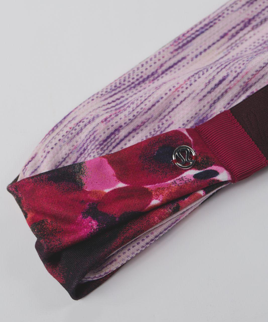 Lululemon Fringe Fighter Headband - Poppy Petals Berry Rumble Multi / Tiger Space Dye Tender Violet Powdered Rose