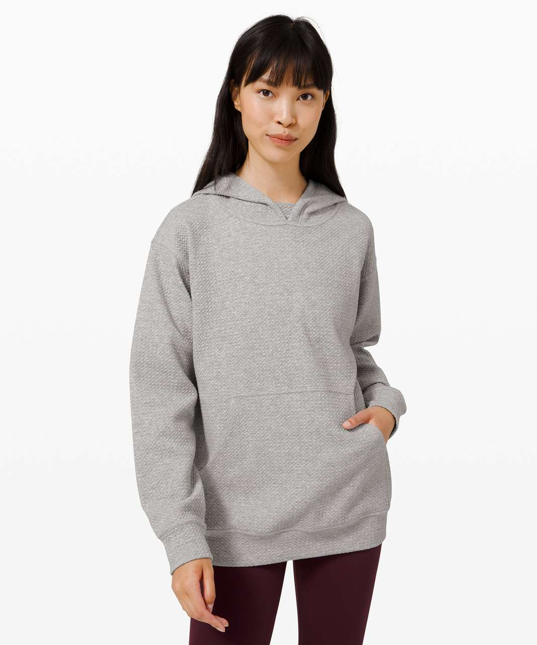 Lululemon All Yours Hoodie *Bubble Dot - Heathered Core Light Grey / White