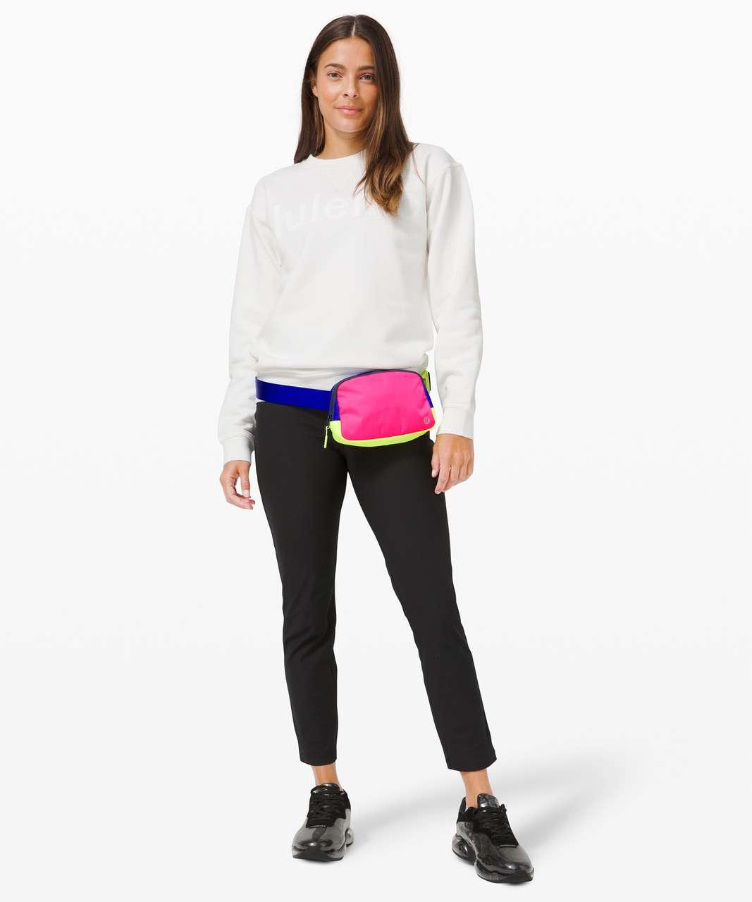 Lululemon Everywhere Belt Bag *1L - Pink Highlight / Cerulean Blue / Highlight Yellow