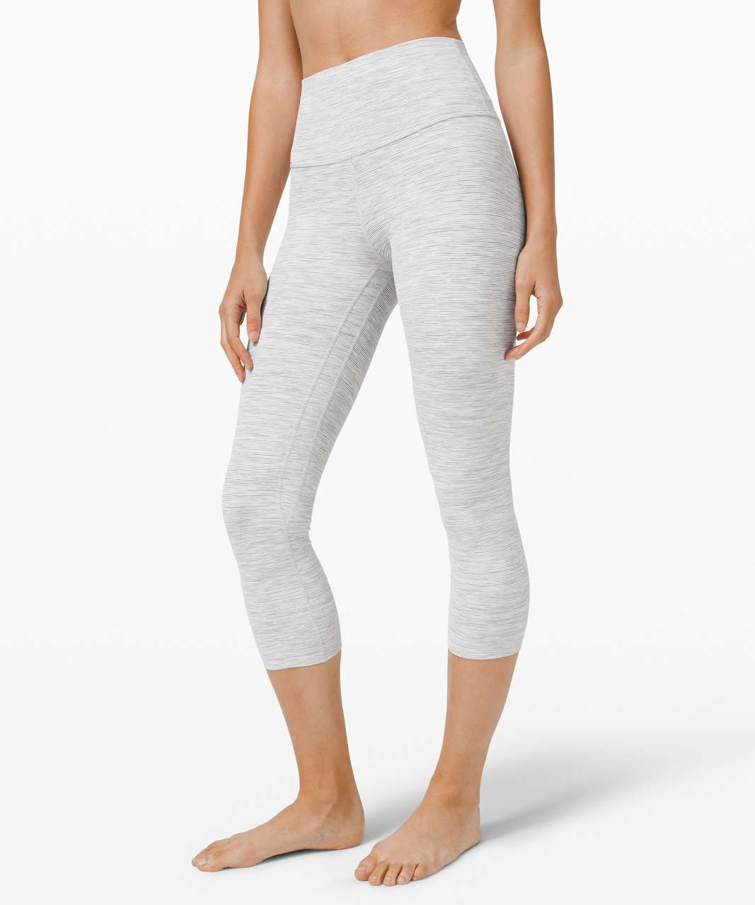 "Lululemon Align Crop *21"" - Wee Are From Space Nimbus Battleship"