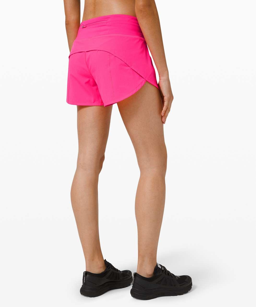 Lululemon Speed Up Short Long 4 Updated Fit Pink Highlight Lulu Fanatics