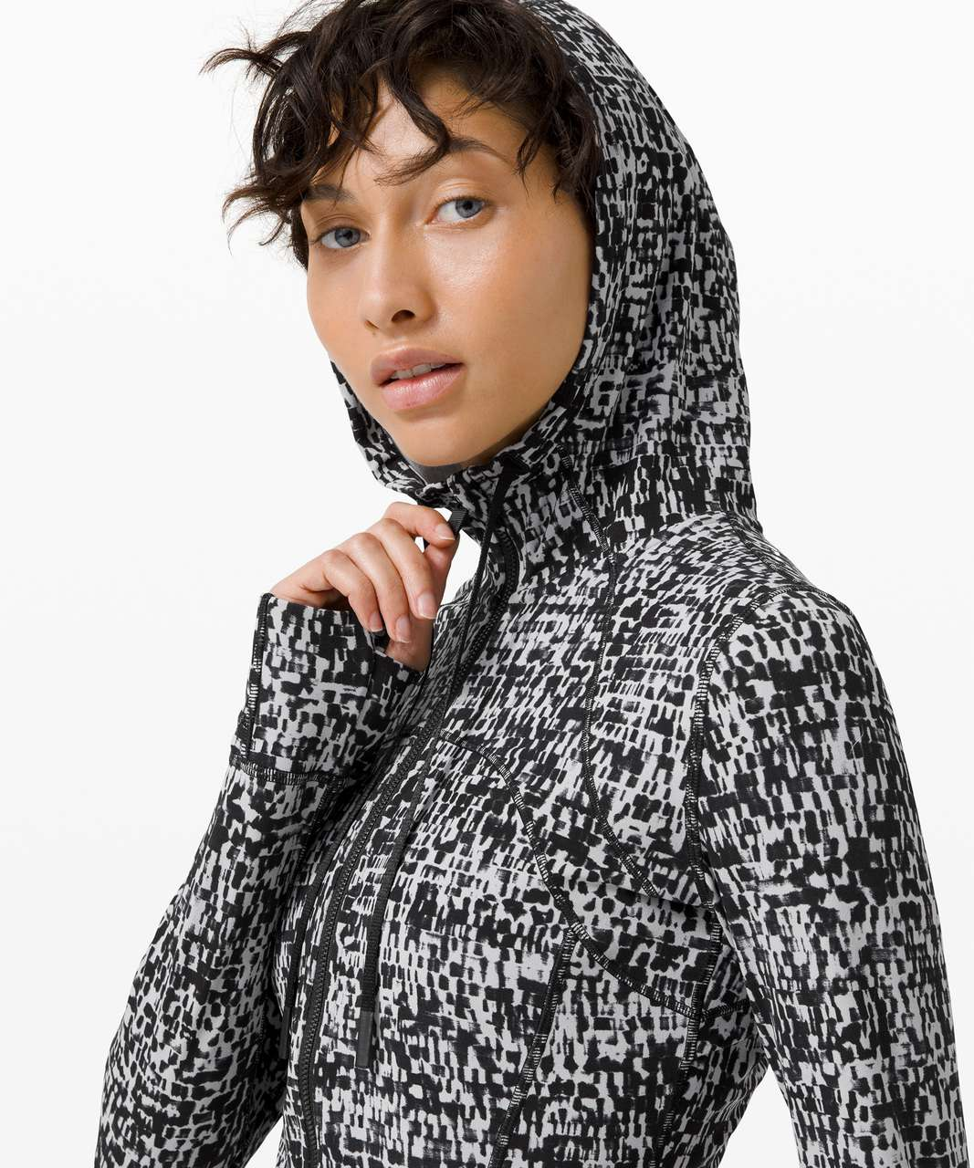 Lululemon Hooded Define Jacket *Nulu - Urban Block Ice Grey Black