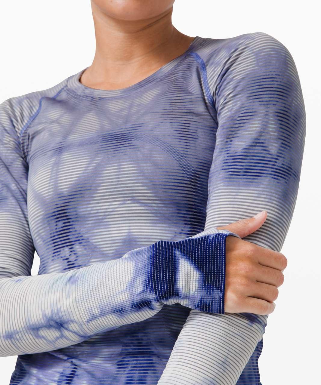Lululemon Swiftly Tech Long Sleeve 2.0 *Wash - Shibori Stripe Midnight Orchid