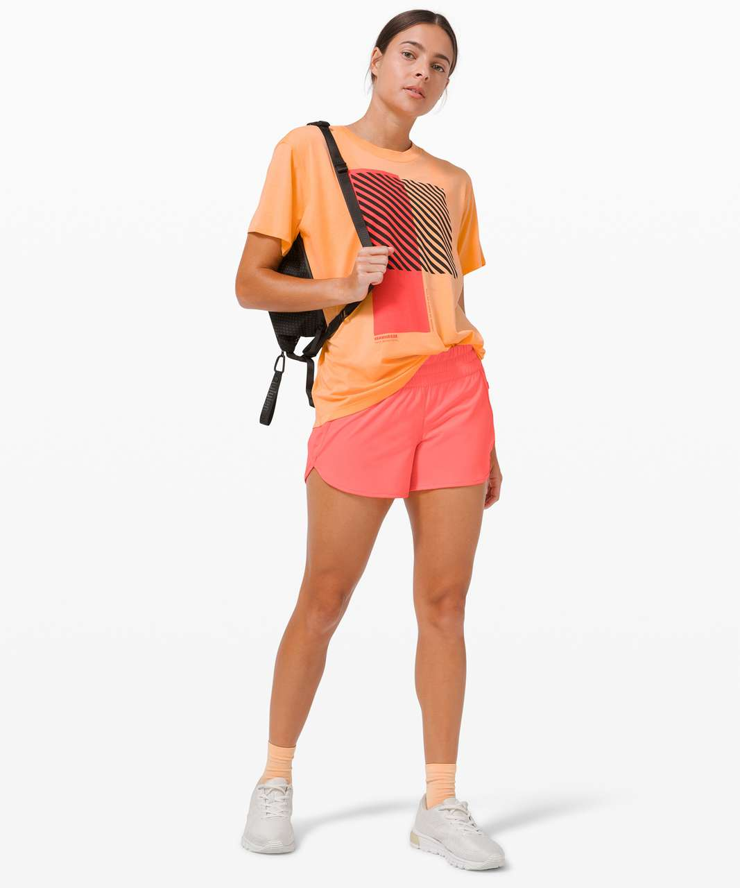 Lululemon All Yours Tee *SeaWheeze - Florid Orange