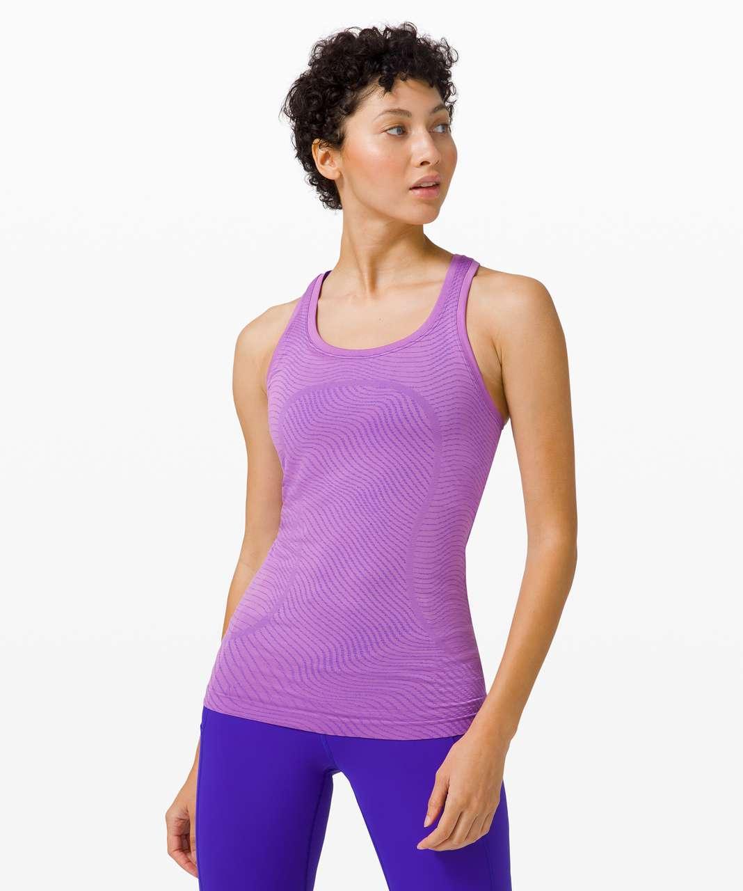 Lululemon Swiftly Speed Racerback *SeaWheeze - Illusion Purple Blossom / Lazurite