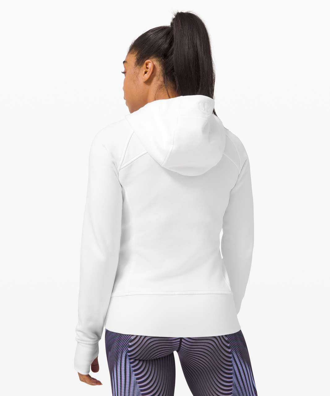 Lululemon Scuba Full Zip Hoodie *SeaWheeze - White