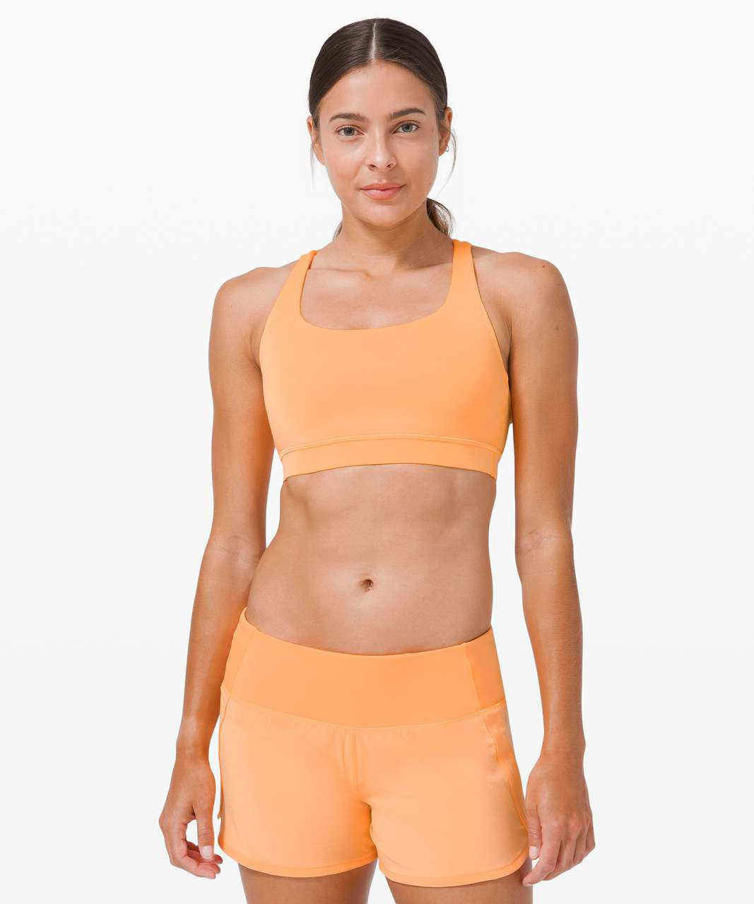 Lululemon Energy Bra *SeaWheeze - Florid Orange