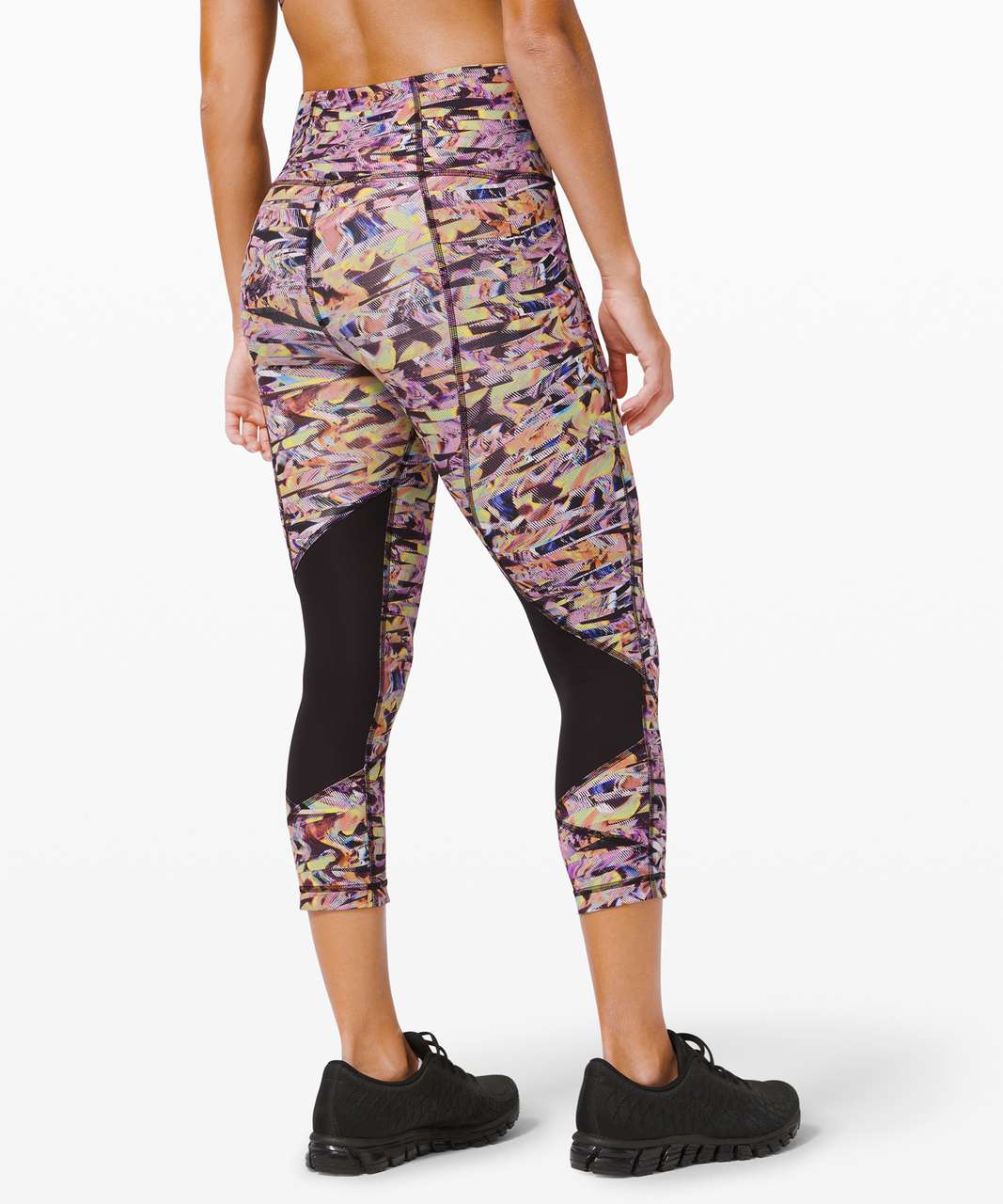 "Lululemon Pace Rival High-Rise Crop 22"" *SeaWheeze - Super Sonic Alpine White Purple Multi"