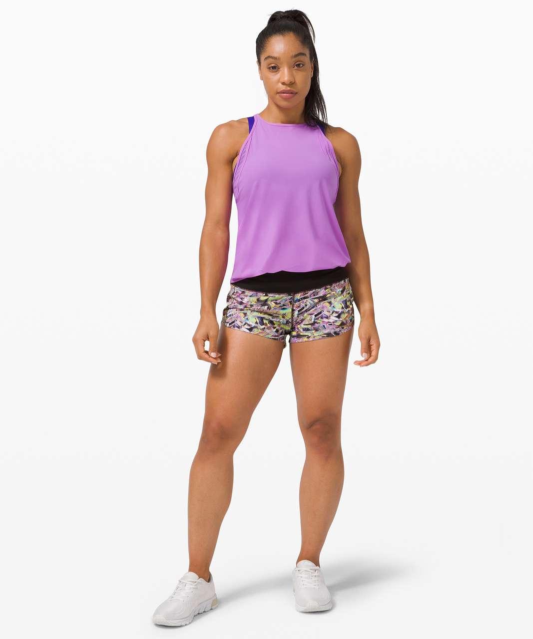 "Lululemon Speed Up Short 2.5"" *SeaWheeze - Super Sonic Alpine White Purple Multi / Black"